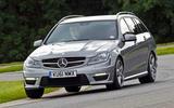 Mercedes-AMG C63 Estate - tracking front