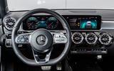 Mercedes-Benz A-Class A180D driving position