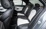 Mercedes-Benz C-Class C200 AMG Line 2018 UK review rear seats