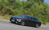 Mercedes-Benz CLS 350 d 2018 UK first drive on the road front