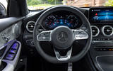 Mercedes-Benz GLC 300d 2019 first drive review - steering wheel