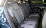Peugeot 3008 Hybrid 2021 UK review - rear seats