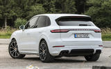 Porsche Cayenne Turbo S E-hybrid 2019 first drive review - static rear