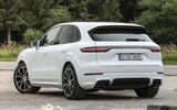 Porsche Cayenne Turbo S E-hybrid 2019 first drive review - static rear