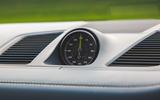 Porsche Cayenne Turbo S E-Hybrid 2020 UK first drive review - clock