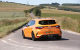 Renault Megane RS 2018 UK first drive cornering rear right