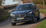Seat Tarraco 2019 UK first drive review - cornering front