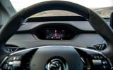 10 Skoda Enyaq 2021 LHD UK first drive instruments