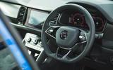 10 Skoda Kodiaq Sportline 2021 UK steering wheel