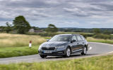 10 Skoda Octavia E Tec hybrid 2021 UK first drive review cornering front