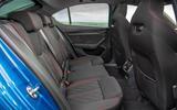Skoda Octavia vRS TDI 2021 UK first drive review - rear seats