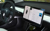 Tesla Model 3 Performance 2019 UK first drive review - instruments