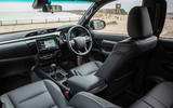 Toyota Hilux Invincible X 2020 UK first drive review - cabin