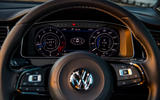 Volkswagen Golf R Performance Pack 2018 review instrument cluster