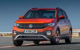 Volkswagen T-Cross 2019 UK first drive review - cornering front
