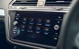 Volkswagen Tiguan Life 2020 UK first drive review - infotainment
