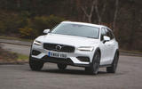 Volvo V60 Cross Country 2019 UK first drive review - cornering front