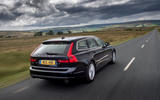 Volvo V90 R-Design Pro 2018 UK first drive review - on the road rear