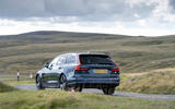 Volvo V90 Recharge T6 2020 UK first drive review - cornering rear