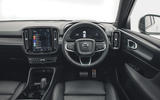 10 Volvo XC40 Recharge P8 2021 UK first drive review dashboard