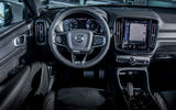 Volvo XC40 Recharge T5 2020 first drive review - dashboard