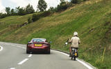 Rally for Heroes - Aston Martin Vantage with biker