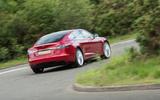 Tesla Model S 100D rear cornering
