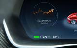 Tesla Model S 100D trip computer