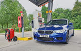 BMW M5 2018 long-term review refuelling stop