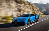 Bugatti Chiron Pur Sport front side moving