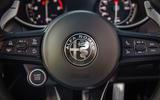 Alfa Romeo Stelvio Sprint 2020 UK first drive review - steering wheel