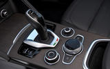 Alfa Romeo Stelvio Ti 2019 first drive review - gearstick