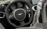 Aston Martin Vantage Roadster 2020 UK first drive review - steering wheel