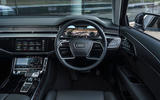 Audi A8 60 TFSIe 2020 UK first drive review - dashboard