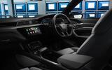 11 Audi E tron S Sportback 2021 UK first drive review cabin
