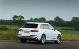 11 Audi Q7 TFSIe 2021 UK FD cornering rear