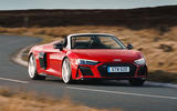 Audi R8 Spyder 2019 UK first drive review - cornering front
