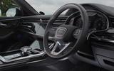 11 Audi SQ8 2021 UK FD steering wheel