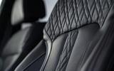 BMW 5 Series M550i 2020 UK first drive - seat details