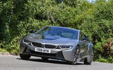 BMW i8 Coupe 2018 UK first drive review cornering front