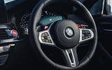 BMW M5 Competition 2020 UK first drive review - steering wheel