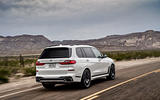 BMW X7 M50i 2020 first drive review - on the road rear