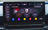11 Cupra Formentor VZ2 2021 UK first drive infotainment