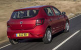 Dacia Sandero 2019 UK first drive review - on the road rear