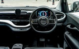 11 Fiat 500e Action 2021 UK FD steering wheel