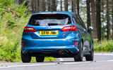 Ford Fiesta ST 2018 UK first drive review on the road rear