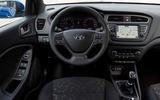 Hyundai i20 2018 review steering wheel