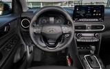Hyundai Kona Hybrid 2019 first drive review - dashboard