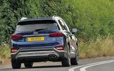 Hyundai Santa Fe 2018 UK first drive review - on the road rear