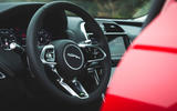 Jaguar XE P300 2019 first drive review - steering wheel